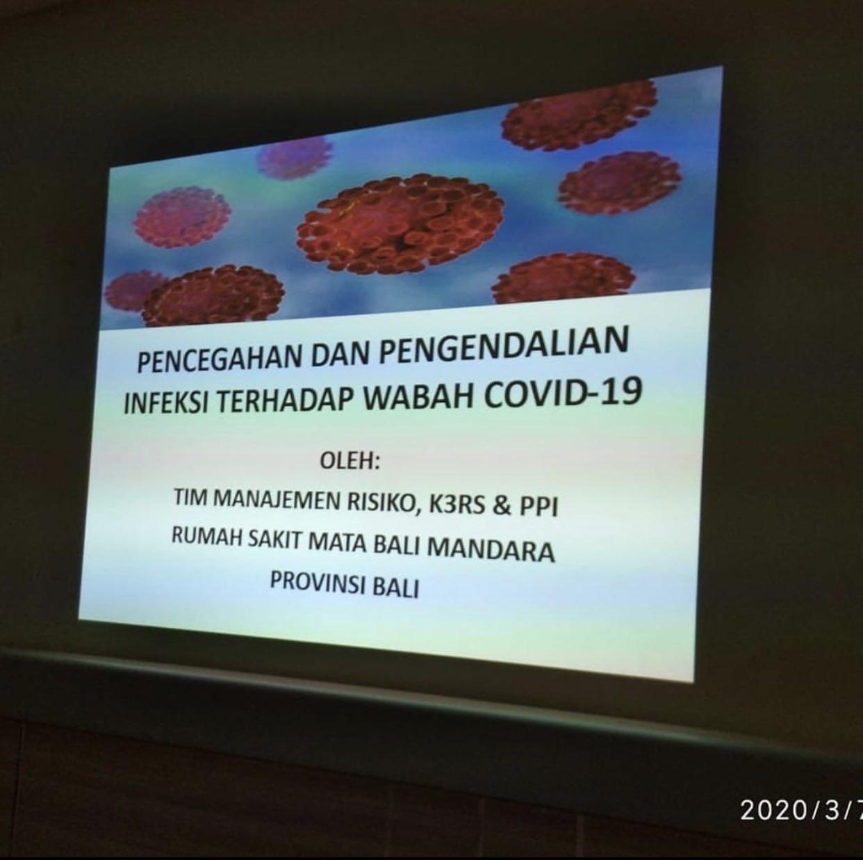 Penyuluhan Pencegahan dan Pengendalian Infeksi terhadap Wabah COVID 19
